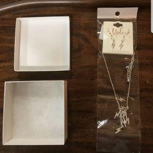 NEW unique vintage lightning bolt earrings and ne